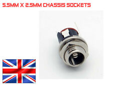 DC power socket, chassis mount for 5.5mm x 2.5mm plug