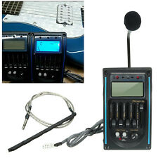 5-Band Acoustic Guitar Preamp EQ Equalizer Piezo Pickup Amplifier LCD Tuner MIC
