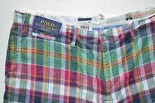 "NWT Men's Polo Ralph Lauren Casual Shorts ""India Madras"" Straight Fit, Sz. 33"