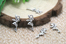 60pcs tiny fairy Charms Antique silver tiny fairy fairy tale pendants 18x8mm