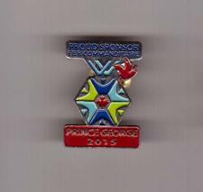 CITY OF PG PROUD SPONSOR 2015 Prince George Canada Winter Games Comittee Pin