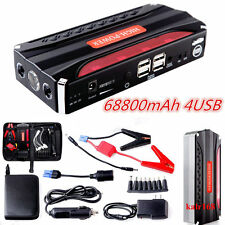 High Power Jump Starter 68800mAh Vehicle Car Booster 4USB Battery Power Bank