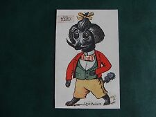 ORIGINAL LOUIS WAIN SIGNED TUCK DOG POSTCARD - THE SOCIETY MASCOT - 4097.