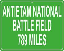 Antietam Battle Field Civil War custom mileage sign - distance to your house