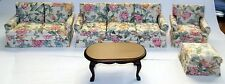 5 PIECE LIVING ROOM  DOLL HOUSE FURNITURE MINIATURES