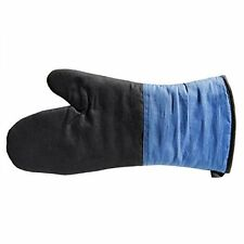 """Grilling Mitt cooking oven hot pad 16"""" blue black potholder heavy duty thick"""