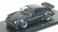 Kyosho 1/43 1988 Porsche 911 Turbo 3.3  05525DB (Dark Blue Metallic) Opening Fea