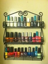 Spice Nail Polish Holder Rack Wall Mount Shelf Kitchen Storage Organizer Decor