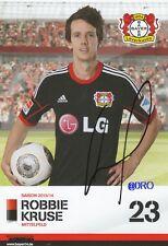 Robbie KRUSE + Bayer 04 Leverkusen + Saison 2013/2014 + Autogrammkarte