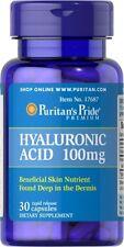 Puritans Pride ácido hialurónico 100mg x 30 RÁPIDO soltar tapas para JUNTAS DE