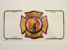 FIREFIGHTERS WIFE METAL AUTO TAG LICENSE PLATE