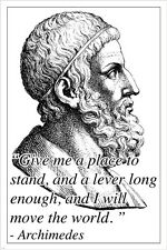 archimedes INSPIRATIONAL MOTIVATIONAL photo quote poster ANCIENT GREEK 24X36