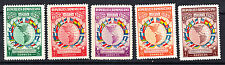 Dominican Republic # 351-55 MINT VLH Complete 1940 Set Flag Map