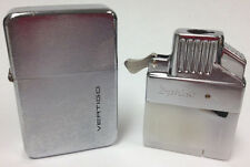 Z-Plus Single Torch Flame Butane Insert with Case Vertigo Lighter - 6203 Chrome