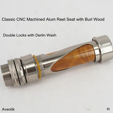 Aventik Fly Fishing Real Seat Classic CNC Machined Alum Reel Seat with Burl Wood