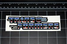 Transformers G1 More than Meets the Eye Heroic Autobot logo decal sticker 80s