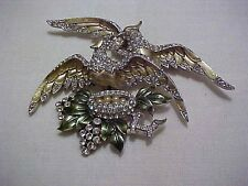 "Awesome Rare Haute Couture Runway 1930's Boucher ""Birds in Nest"" Pin/Brooch"