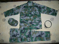 07's China PLA Macao Army Officer Woodland Digital Camo Combat Clothing