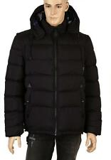 NEW BURBERRY MEN'S BLACK DOWN PUFFER REMOVABLE SLEEVES JACKET COAT &  VEST XL