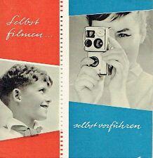 Selbst filmen selbst vorführen Kamera Werbung Dresden 1959 für AK 8 Pentaka 8
