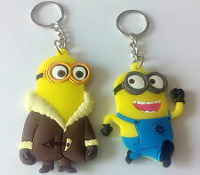 # 2 Pcs Despicable Me- Minion Fine Rubber Both Side Embossed  Key chain
