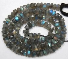 """Labradorite with Fire 4.5-5mm Faceted Rondelle Gemstone Beads 13""""-13.5"""" Strand"""