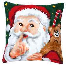 Vervaco 1200/139 Canvas Santa & Sack Cushion Front Cross Stitch Kit 40cm Approx
