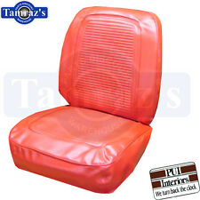 1964 1965 Barracuda Fastback Front Seat Covers Upholstery - Bright Red PUI New