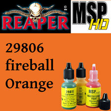 FIREBALL ORANGE 29806 - MSP HD 15ml 1/2oz paint pot peinture REAPER MINIATURE