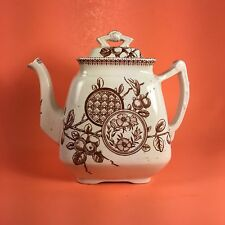 Staffordshire Teapot (New Wharf Pottery) Dated 1883