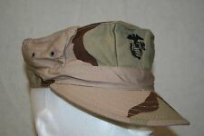 MIL-SPEC USMC MARINE 3-COLOR DESERT CAMO UTILITY COVER HAT SIZE MEDIUM US MADE