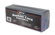 (10) BCW Booklet Card Toploaders - Book Card Topload Holders 7 3/8 x 2 1/2 Case