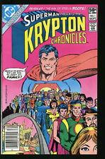 SUPERMAN KRYPTON CHRONICLES 1-3 VERY FINE SET 1981 #CDEC16-56