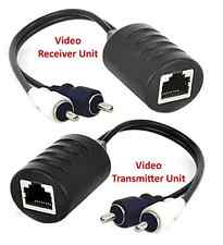 2-Channel Composite RCA Video Balun Extender Over Cat5 Cat5E Cat6 Cable