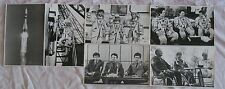 6 Russian Real Photo Space Man Woman Cosmos Ship Craft Rocket Start Fly Suit Old