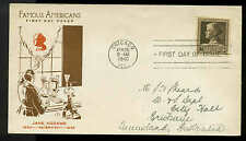 U.S. FDC #878 #M4 Fidelity Cachet Chicago, IL  Famous American Jane Addams