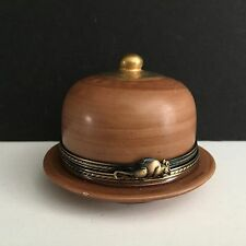 Limoges Trinket Box Domed Cheese Tray, Mint