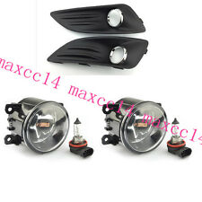 FOG LIGHTS LIGHT LAMPS cover & GRILLES front bumper for Ford Fiesta 2013 2014