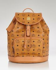 MCM Heritage Collection Drawstring Cognac Backpack $800