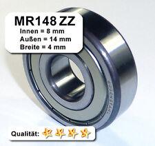 Kugellager 8*14*4mm Da=14mm Di=8mm Breite=4mm MR148ZZ Radiallager