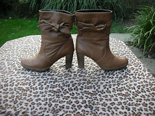 George Brown leather high heeled ankle boots UK size 8 EU 42