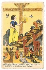 CPA BLANCHE NEIGE ET LES 7 NAINS N° 5
