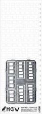 482021 Remaches + PE Cortado HGW plantilla-oblongo plantillas (Plus) 1/48