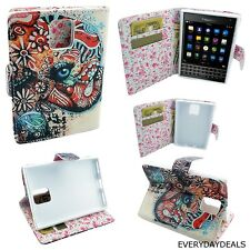 Wallet Pouch Case Flap Cover For Blackberry Passport Color Elephant