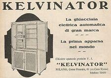 Z0650 Pubblicità del 1930 - Advertising - Kelvinator la ghiacciaia elettrica