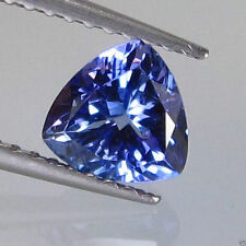 VERY RARE 4.5mm TRILLIANT-FACET PURPLE/BLUE NATURAL TANZANITE GEMSTONE