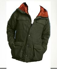 NEW Eddie Bauer Mens Mountain Down Parka Jacket With MicroTherm Liner Forest S