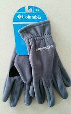 NWT Columbia Men's SMALL Fast Trek Fleece Gloves GRAY Clip WINTER New!  182915