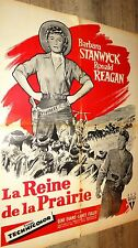LA REINE DE LA PRAIRIE ! r reagan Barbara Stanwyck affiche cinema western 1954