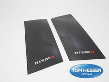 Genuine JDM Nissan 350Z FAIRLADY Z33 CARBON Fiber Door Pillar Panel Covers Set